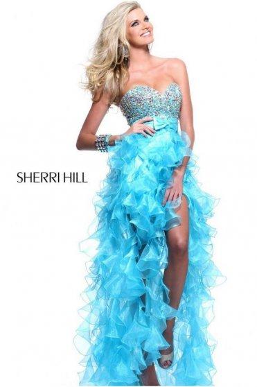 Rochie Sherri Hill 21158 Aqua