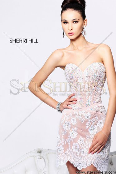 Rochie Sherri Hill 21157 White