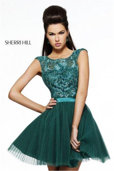 Rochie Sherri Hill 21167 Turquoise