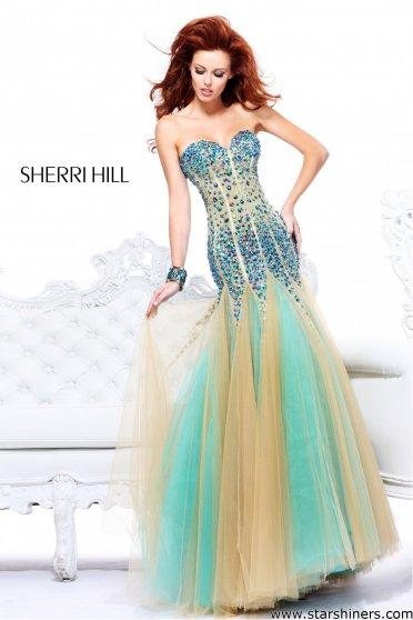 Rochie Sherri Hill 21108 Aqua