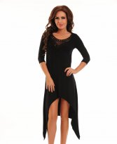 Fofy Brodery Fusion Black Dress