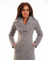Haine. Palton LaDonna Russian Beauty Grey