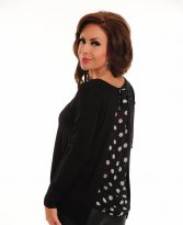 Dotty Back Black Sweater