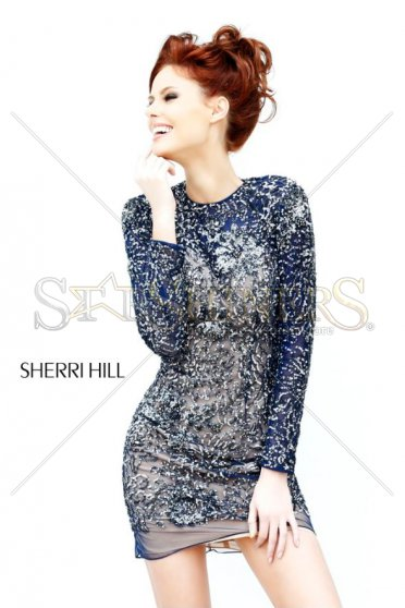 Rochie Sherri Hill 21073 DarkBlue