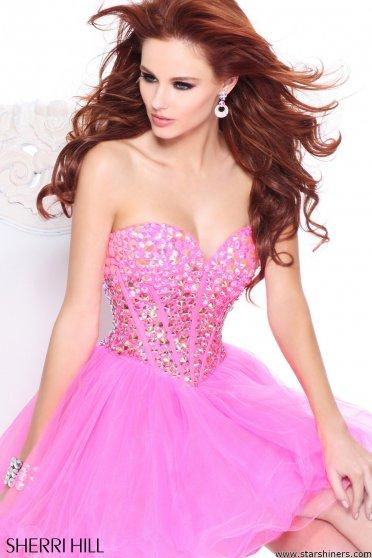 Rochie Sherri Hill Luxurious Life Pink