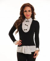 Haine. Bluza Fofy Ideal Dots Black