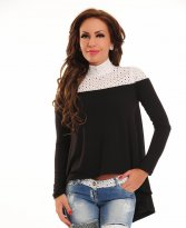 Haine. Bluza Ocassion Romantic Delight Black