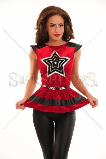 Bluza LaDonna Twinkle Star Red
