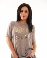 MissQ Glowy Chick Grey Blouse
