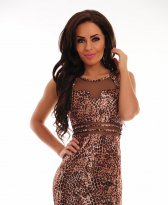 Haine. Rochie Jungle Fever Brown