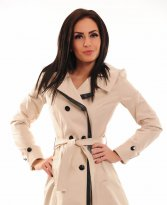 Fofy Covered Fount Cream Trechcoat