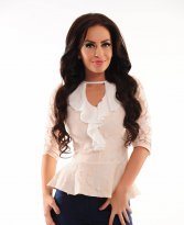 LaDonna Covered Spirit Cream Blouse