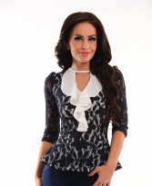 LaDonna Covered Spirit DarkBlue Blouse
