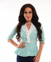 LaDonna Covered Spirit Turquoise Blouse