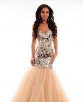 Sherri Hill 21285 Nude Dress