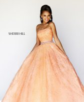 Sherri Hill 21292 Peach Dress