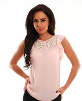 Lovely Ruffles Peach Blouse