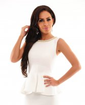 Venerable Waist White Dress