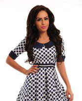 Haine. Rochie Fofy Fascinating Dots White