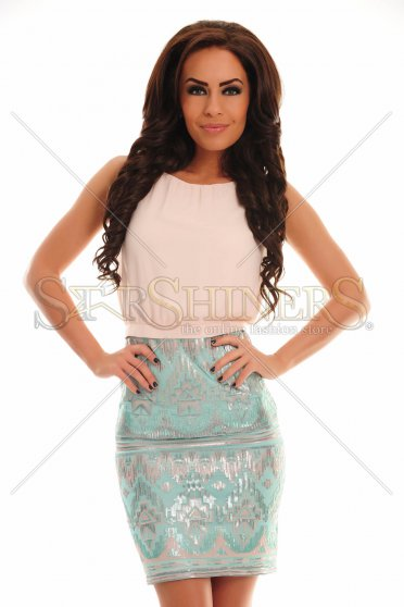 Rochie Notorious Effect Turquoise