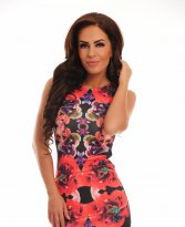 Haine. Rochie Windy Flowers Black