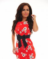 Haine. Rochie Fofy Perfect Notes Red