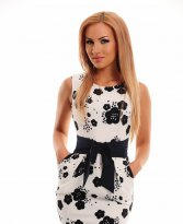 Haine. Rochie Fofy Perfect Notes White