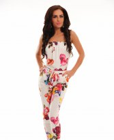 PrettyGirl Skillful White Jumpsuit