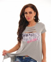 Haine. Tricou Ocassion Rebel Corners Grey