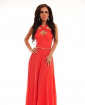 Haine. Rochie LaDonna Cross Roads Red