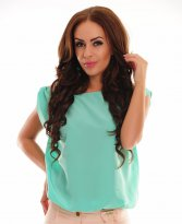 PrettyGirl Timely Mint Blouse