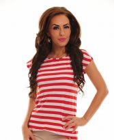 PrettyGirl Streaky Red T-Shirt