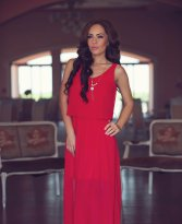 Haine. Rochie LaDonna Flawless Waves Red