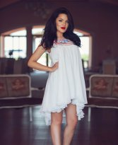 Painted Poetry White Dress