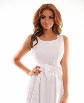 Lustrous Effect White Dress
