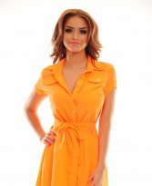 Haine. Camasa MissQ Straight Style Orange
