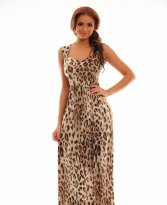 Haine. Rochie MissQ Iconic Flower Brown