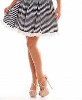 Fofy Striped Bounce DarkBlue Skirt