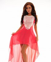Luxuriant World Coral Dress