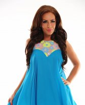 Haine. Rochie Artista Expensive Shine Turquoise