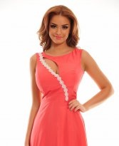 Haine. Rochie Remarkable Match Coral