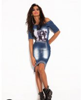 Mexton Empty Space Blue Dress