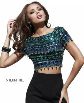 Haine. Set Sherri Hill 32040 Black