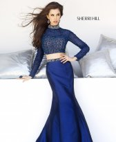 Sherri Hill 32044 DarkBlue Dress