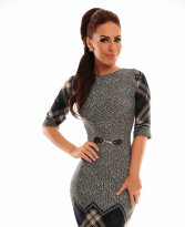 Haine. Rochie LaDonna Checked Dream DarkBlue
