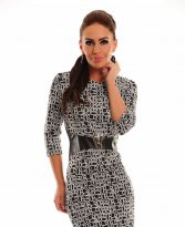 Haine. Rochie LaDonna Abstract Shapes Black