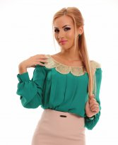 Haine. Bluza LaDonna Golden Wave Green