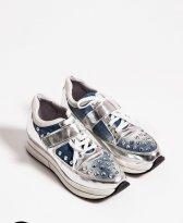 Mexton Spiked Cover Blue Sneakers