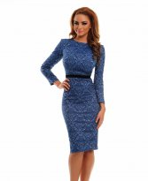 Haine. Rochie StarShinerS Baroque Long Blue