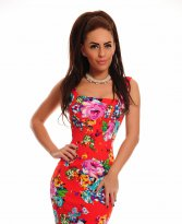Haine. Rochie Fofy Colorful Fantasy Red